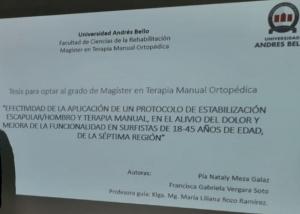 Felicidades Pia N. Meza Y Francisca G. Vergara por su Magister en TMO de la UNAB